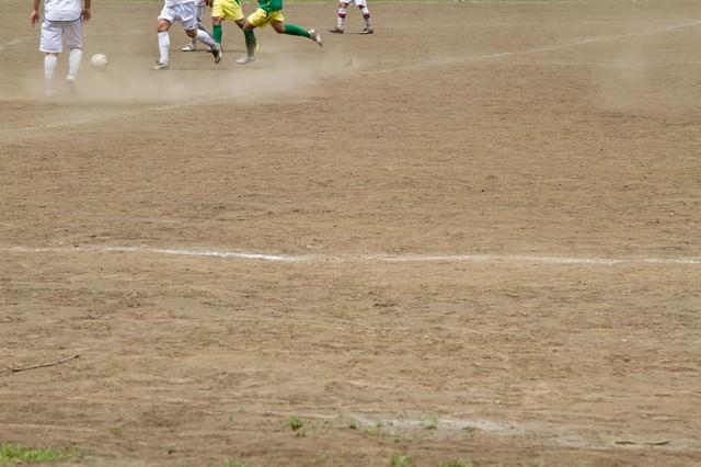 サッカーの試合の写真