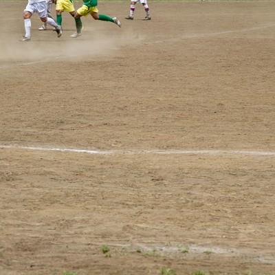 「サッカーの試合」の写真素材