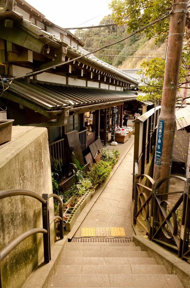 江ノ島の町並みの写真