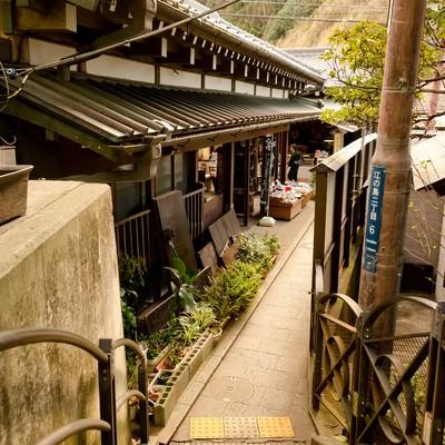 「江ノ島の町並み」の写真素材