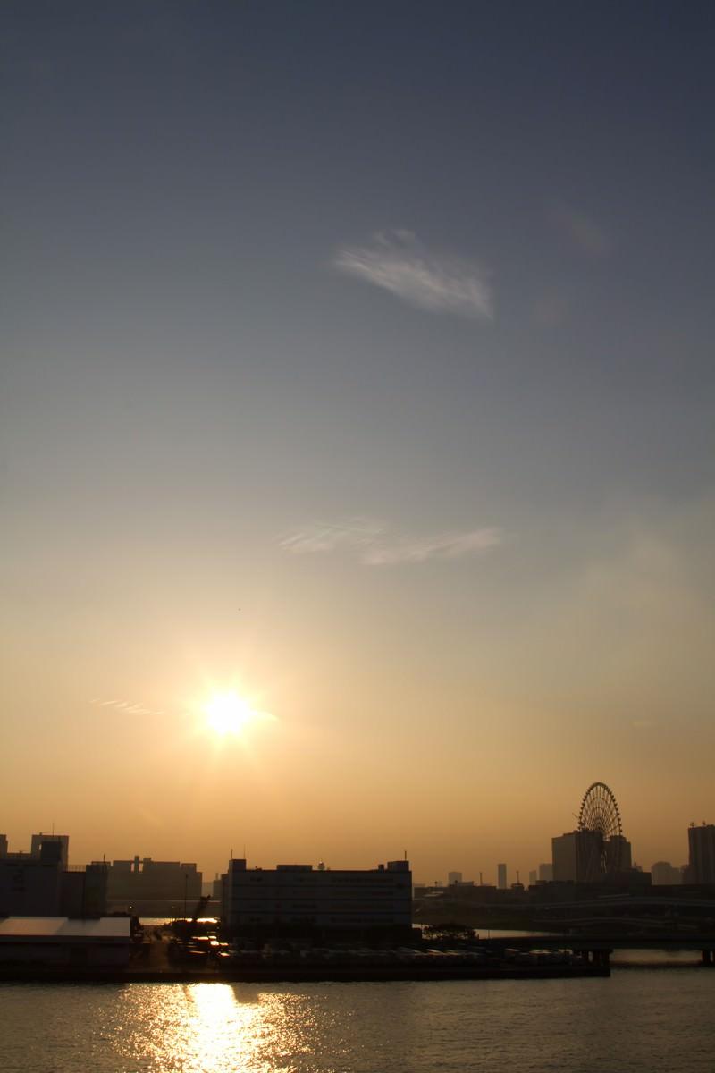 「東京ビッグサイトからの夕焼け」の写真