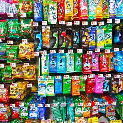 「外国のガムとキャンディ」の写真素材
