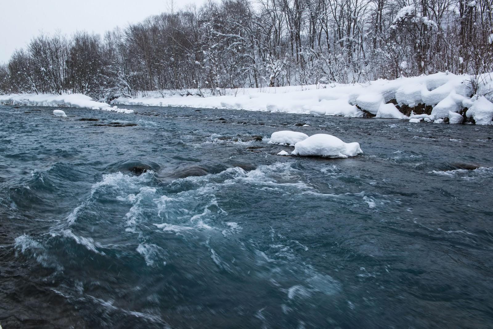 「雪の中の美瑛川雪の中の美瑛川」のフリー写真素材を拡大