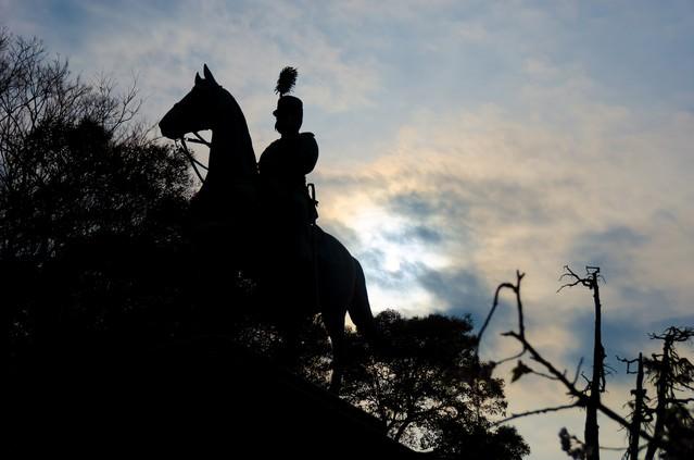 上野公園 小松宮彰仁親王銅像の写真