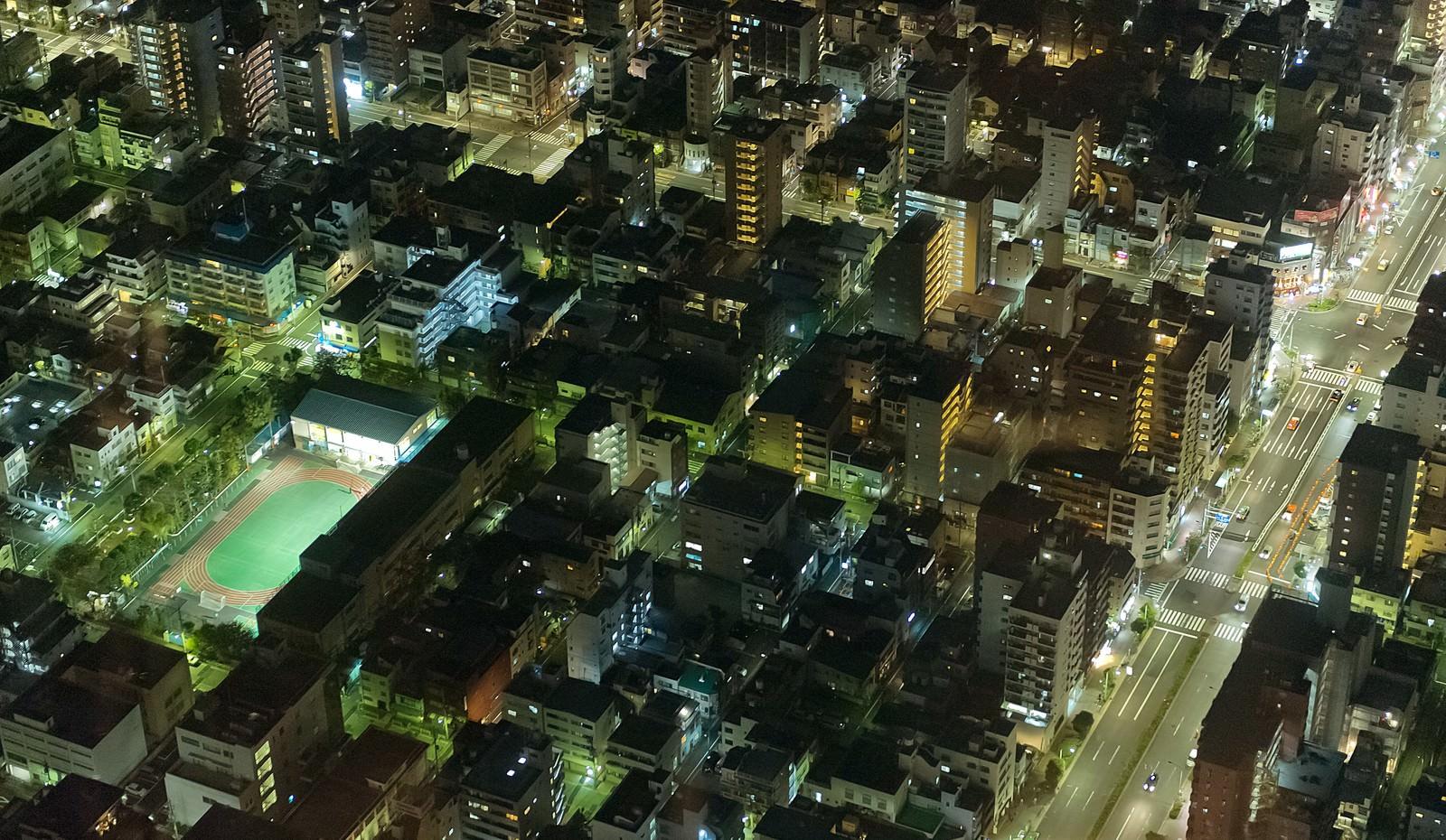 「シムシティのような街(夜景) | 写真の無料素材・フリー素材 - ぱくたそ」の写真