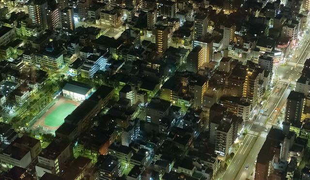 シムシティのような街(夜景)の写真