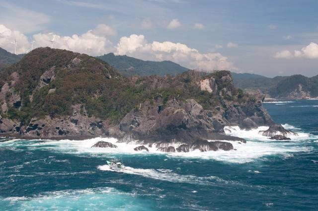 石廊崎の青い海の写真