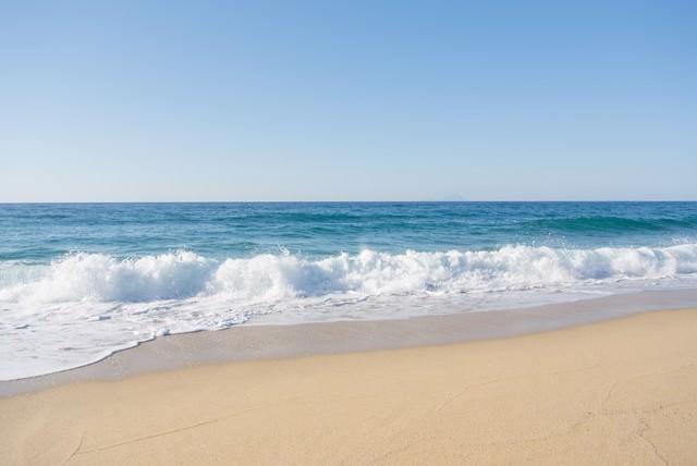 屋久島の海と砂浜の写真