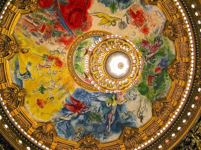 オペラ・ガルニエの天井画の写真
