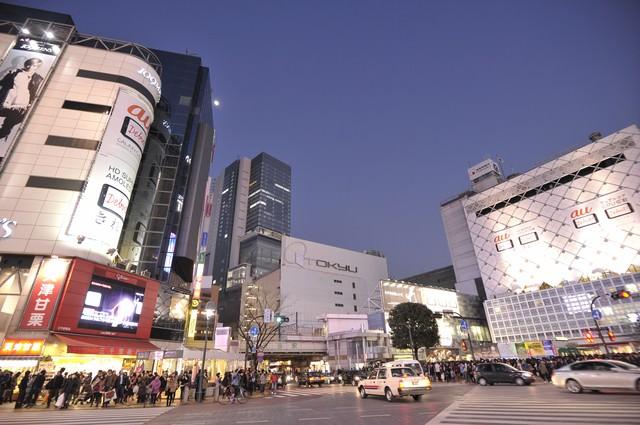 渋谷の夜の写真