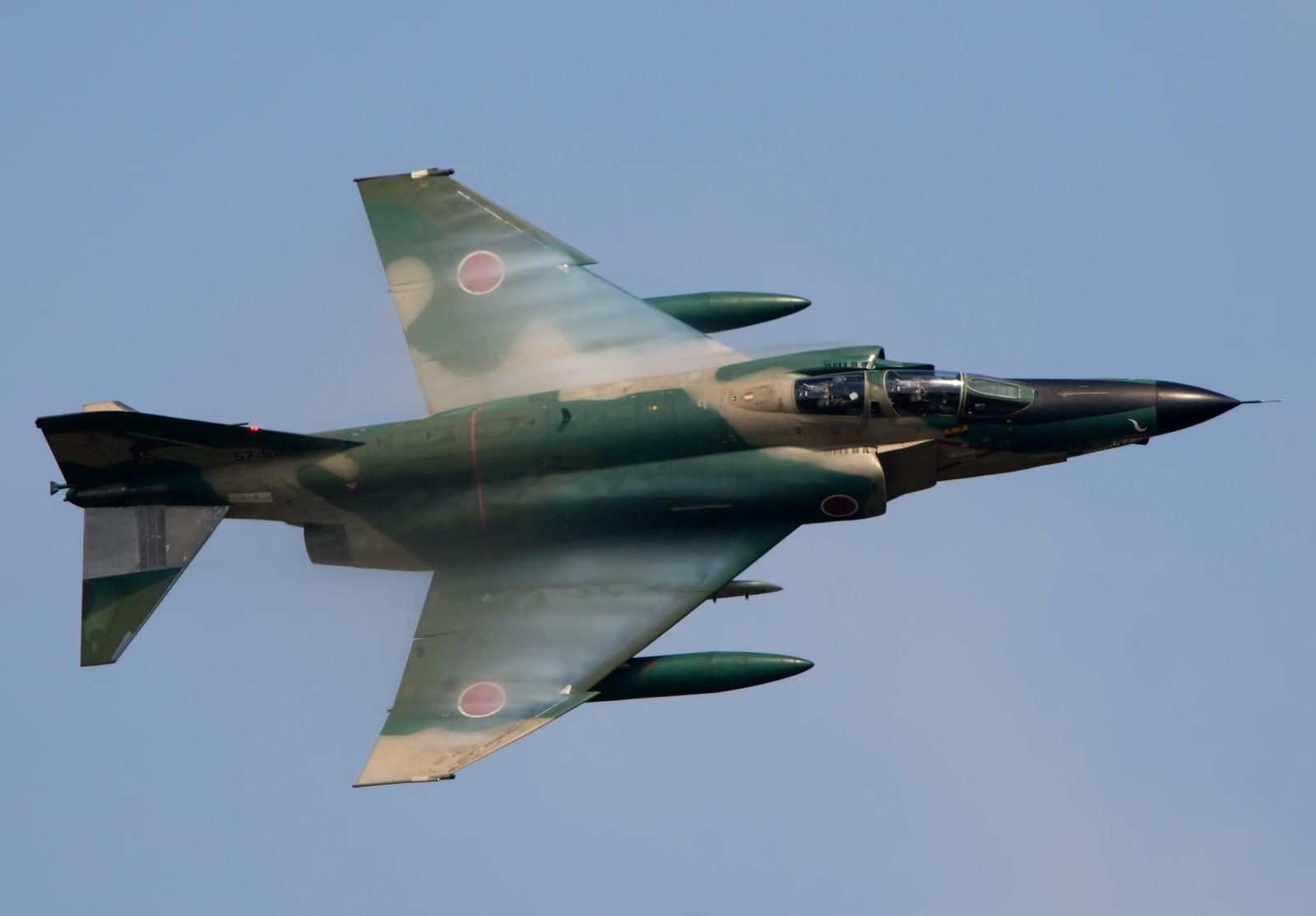 「翼に羽衣まとって(RF-4)」の写真