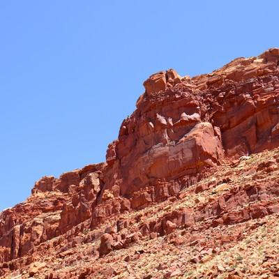「モニュメントバレー(岩)」の写真素材