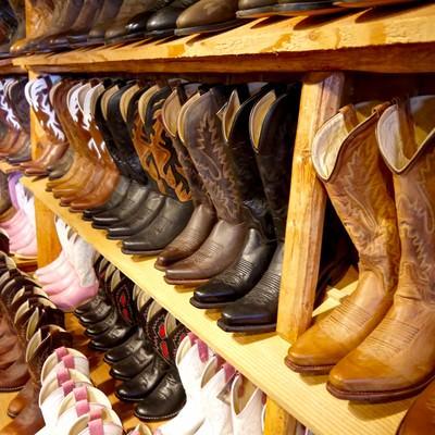 「ブーツ売り場」の写真素材