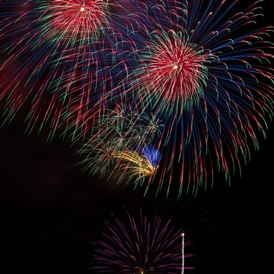 打ち上げられた花火の写真