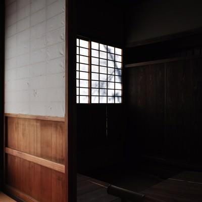 日本家屋の炊事場跡の写真