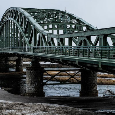「北海道の旭橋」の写真素材