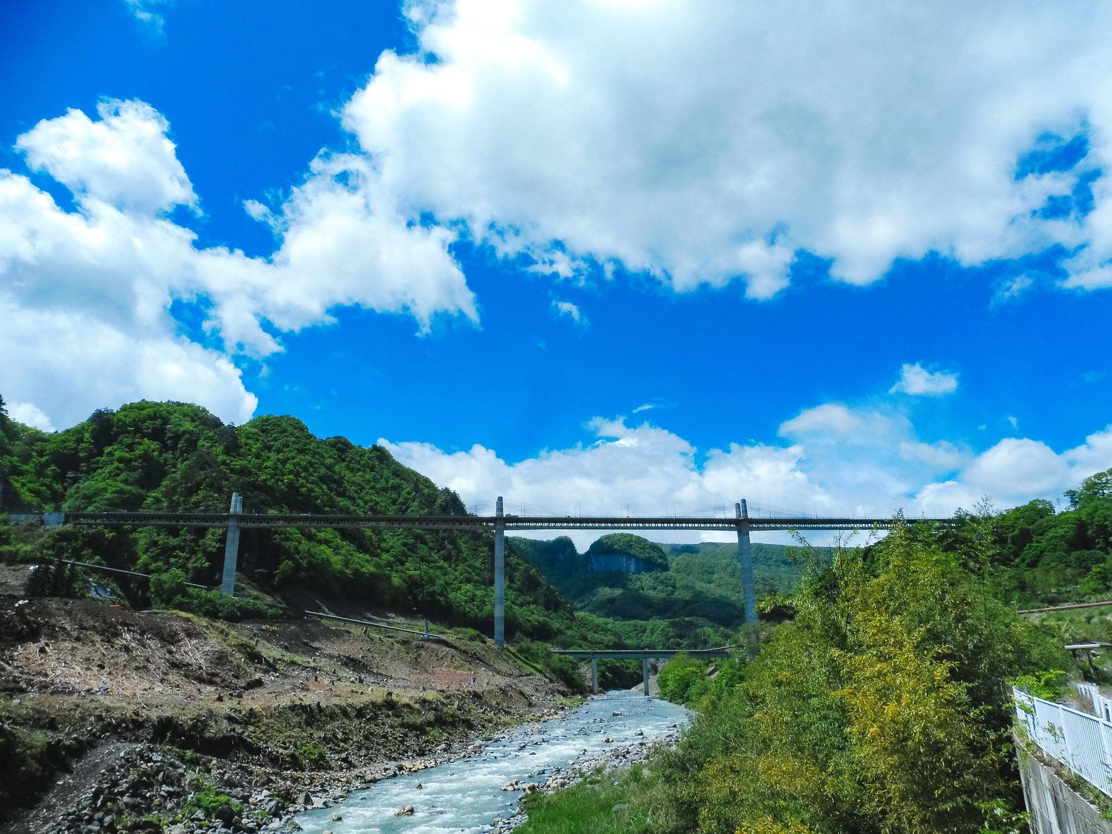 「吾妻川と丸岩の景観」の写真