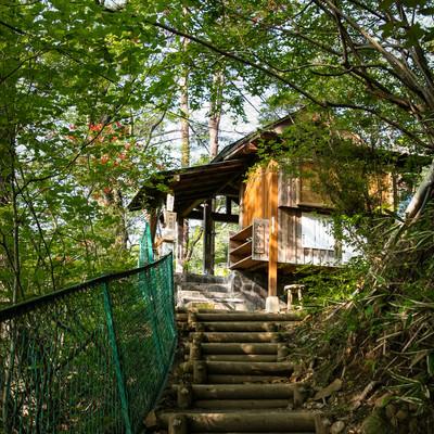 旧川原湯温泉「聖天様露天風呂」前の写真