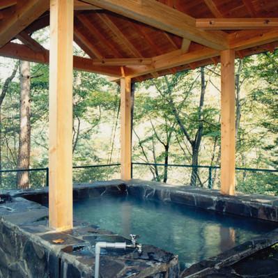 「旧川原湯温泉「聖天様露天風呂」」の写真素材