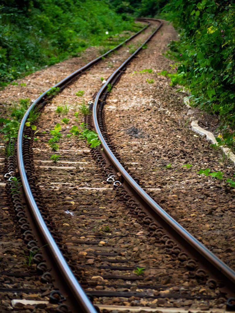 「果てしなく続く線路(JR五能線)」の写真