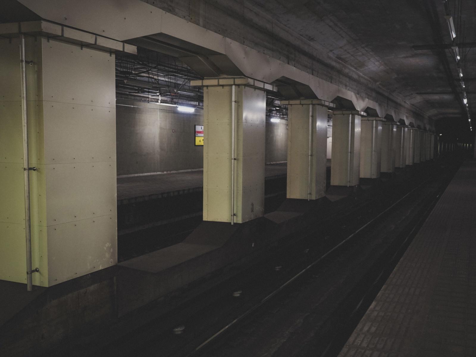 「地下鉄玉川駅の線路(大阪府)」の写真