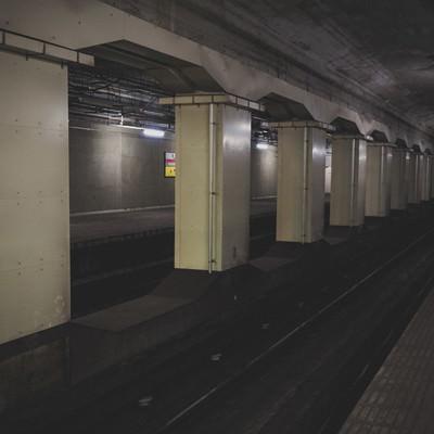 地下鉄玉川駅の線路(大阪府)の写真