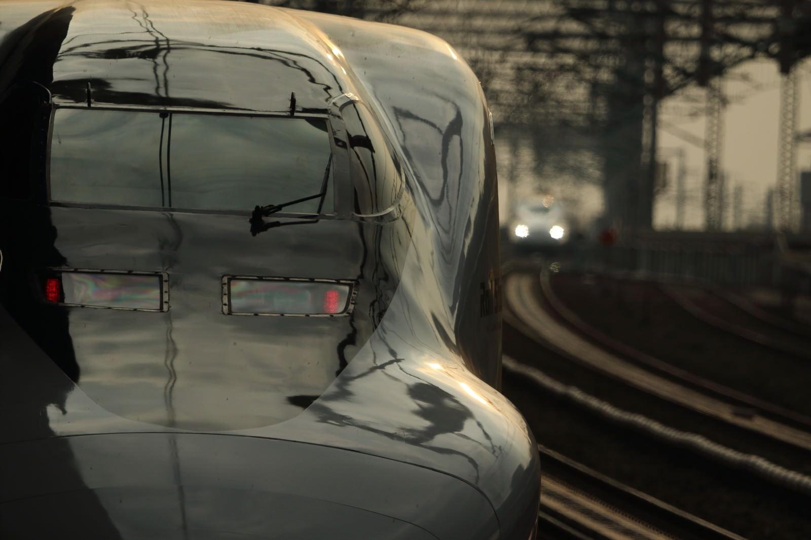 「鉄道の顔と美しい光沢」の写真
