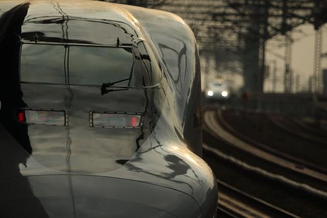 鉄道の顔と美しい光沢の写真