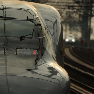 「鉄道の顔と美しい光沢」の写真素材