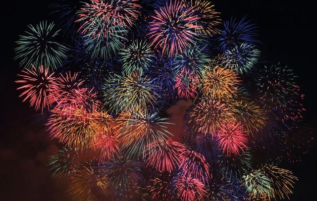 淀川の花火大会の写真
