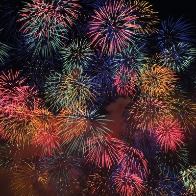 「淀川の花火大会」の写真素材