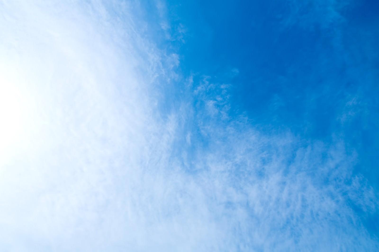 「青い空、雲のテクスチャー」の写真