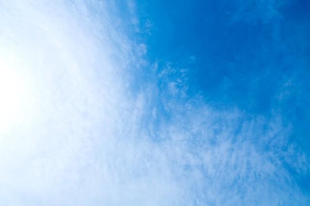 青い空、雲のテクスチャーの写真
