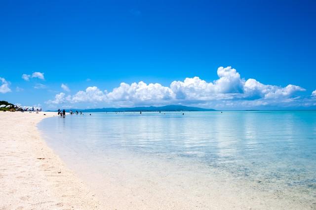 竹富島のビーチの写真