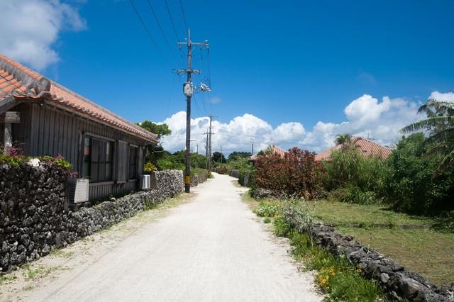 竹富島の民家の写真