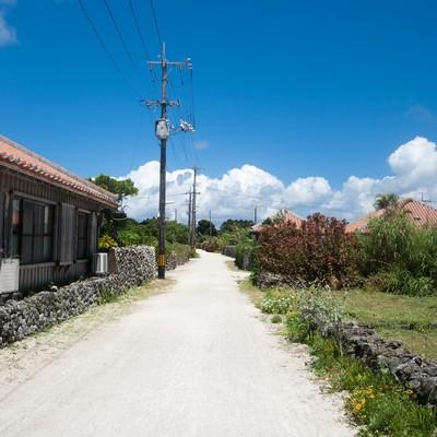 「竹富島の民家」の写真素材