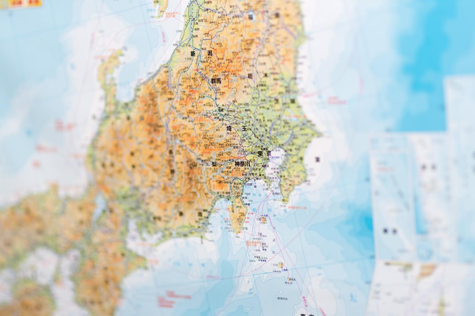 「神奈川の地図神奈川の地図」のフリー写真素材を拡大