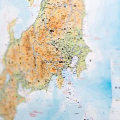 「神奈川の地図」の写真素材