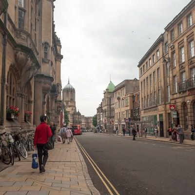 「オックスフォードの町並み」の写真素材