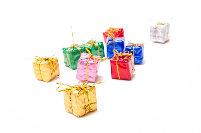 「ギフト・プレゼントボックス」のフリー写真素材