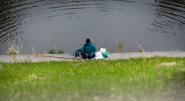釣りする人の写真