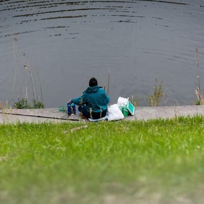 「釣りする人」の写真素材