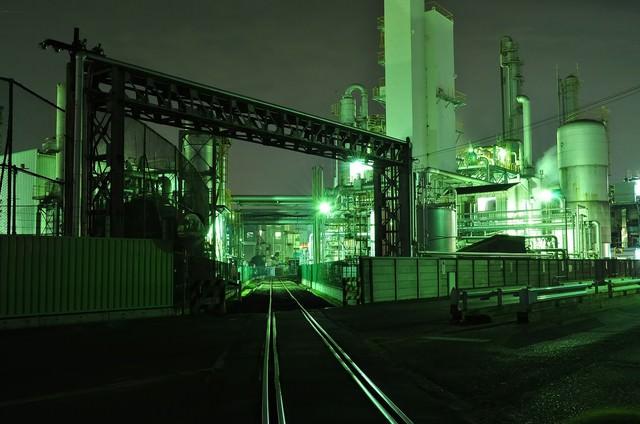 川崎工業地帯の夜景の写真