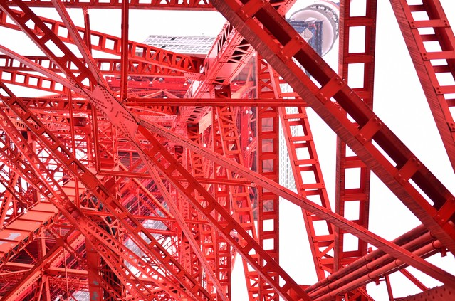 赤い鉄塔(東京タワー)の写真