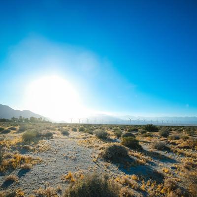 カリフォルニア・パームスプリングスの太陽の写真