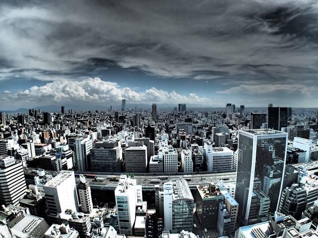 都会の眺めの写真