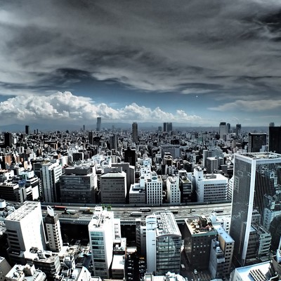 「都会の眺め」の写真素材