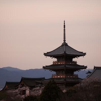 「京の街を眺める」の写真素材