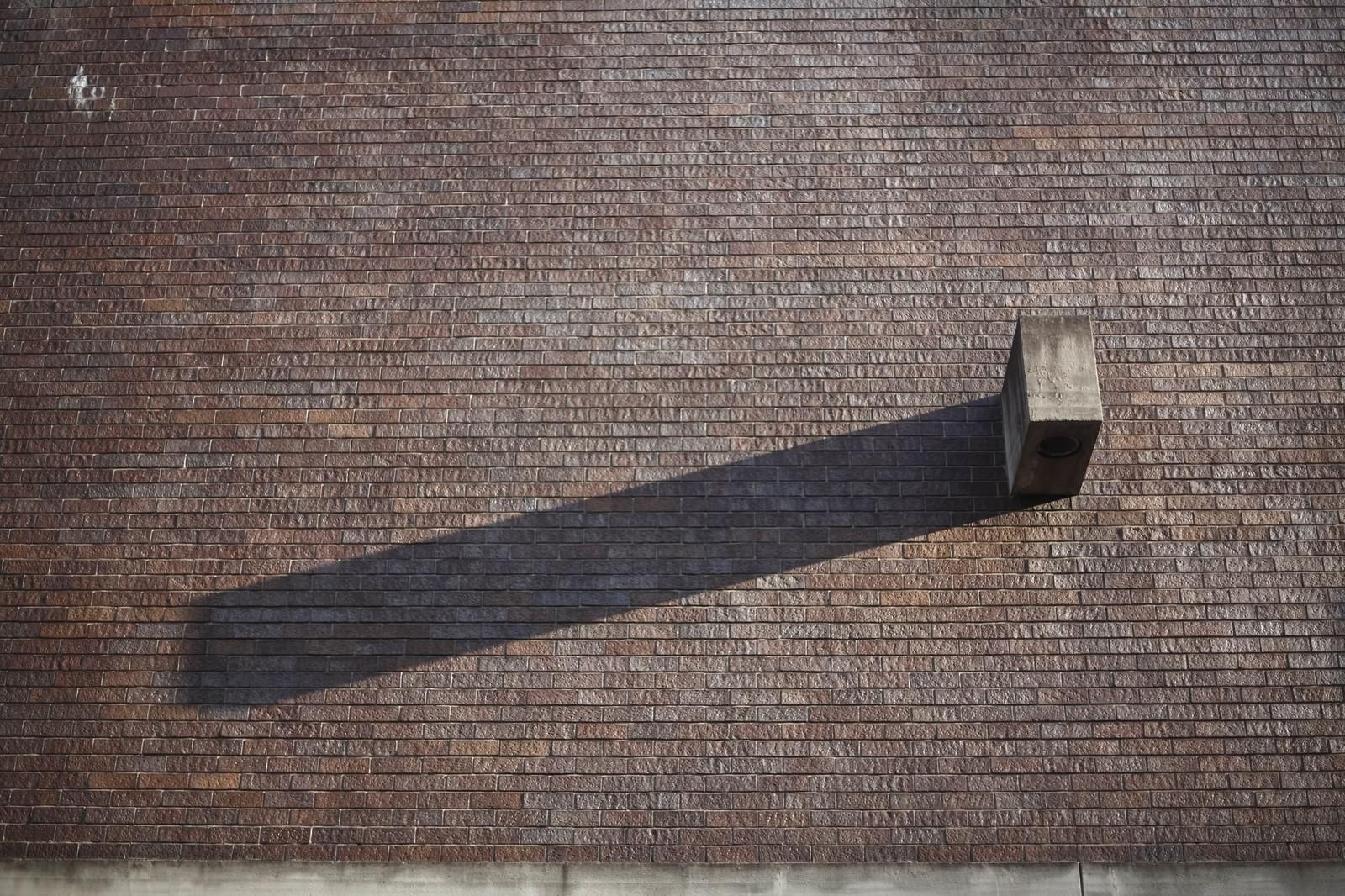 「ブロックと伸びた影」の写真