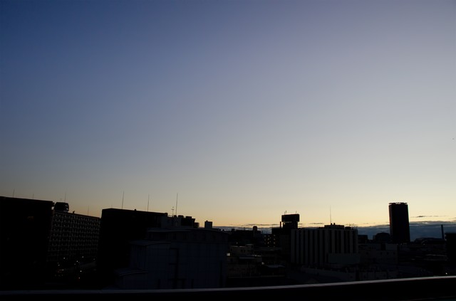 目覚め前(日が昇る)の写真